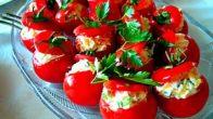 Rus Salatalı Domates Dolması Tarifi