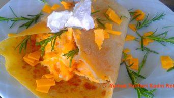 Yumurtalı ve Pastırmalı Krep Tarifi