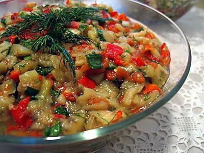 Közlenmiş Patlıcanlı Piyaz Tarifi