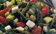 Peynirli Bezelyeli Börülce Salatası Tarifi